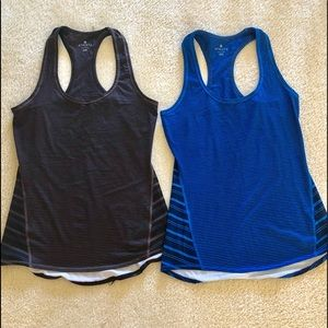 athleta striped racer back tank top - pack of two